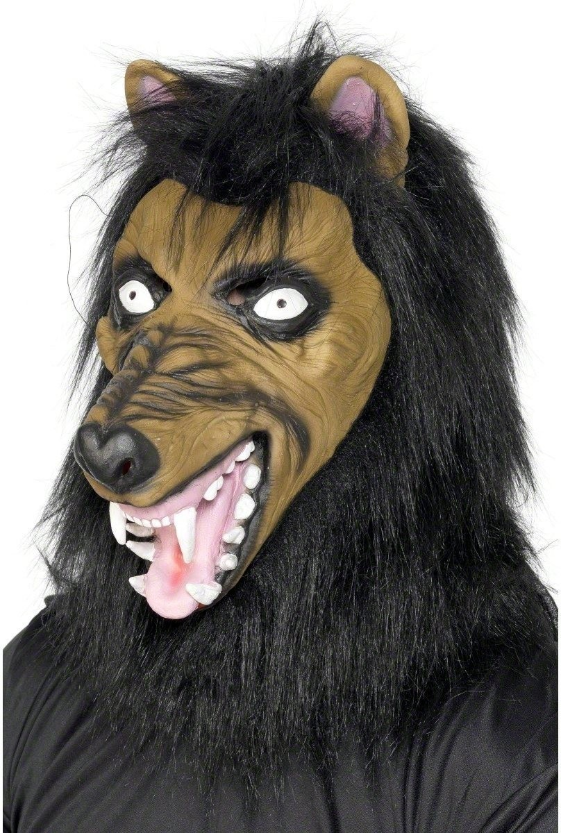 Mad Wolf Mask - Fancy Dress Mens (Halloween)