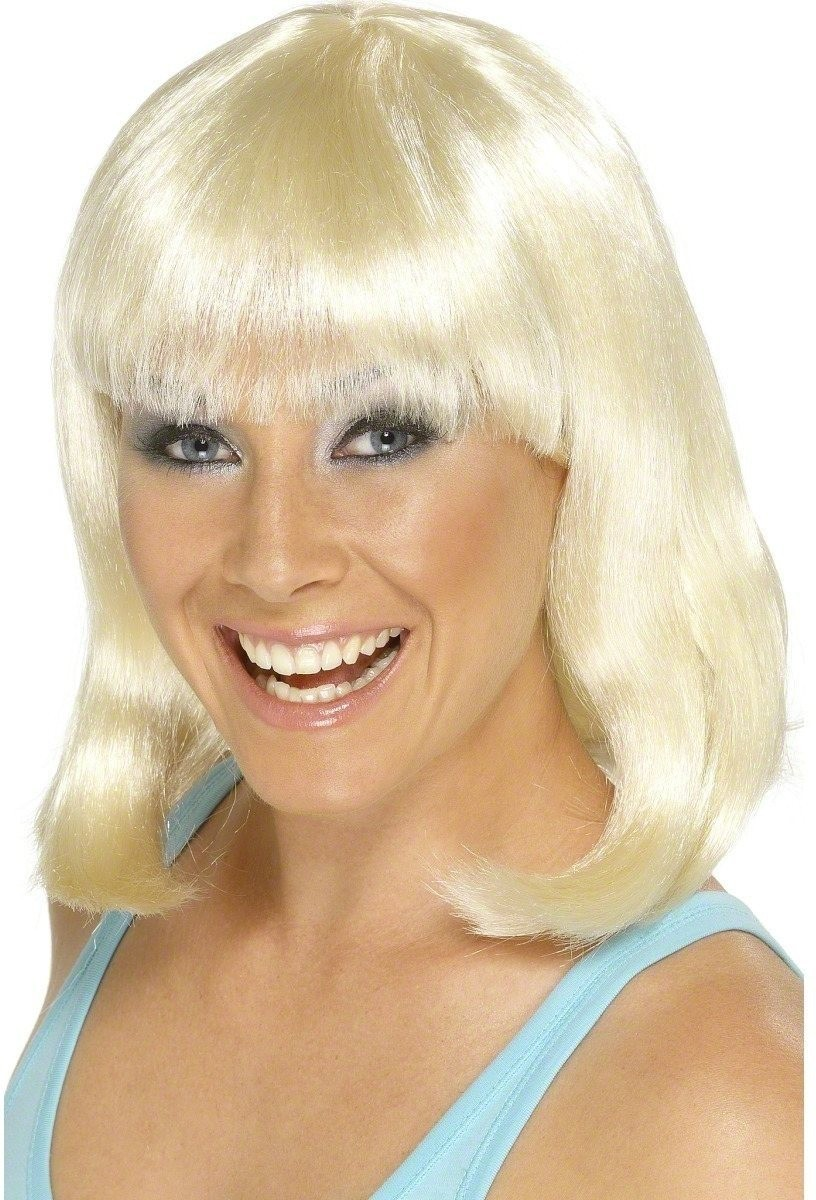 Cheerleader Wig Blonde - Fancy Dress Ladies (Sport)