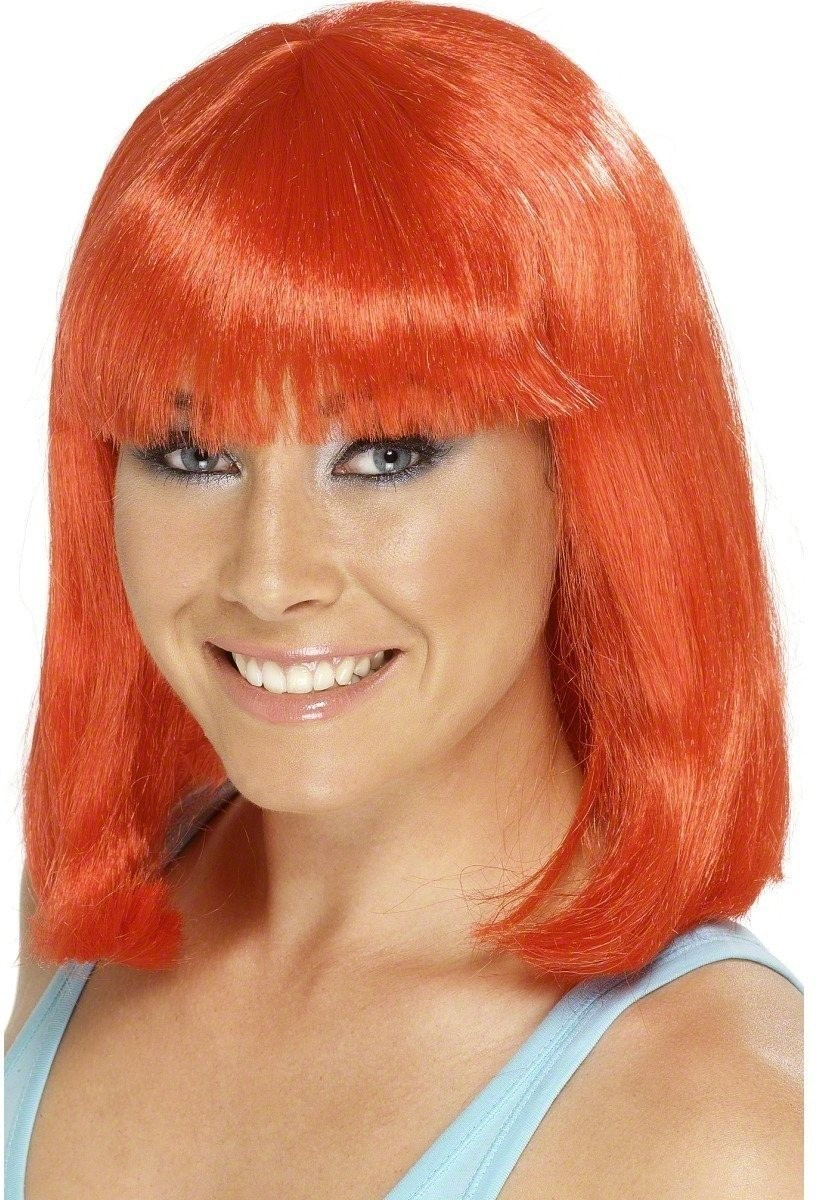 Cheerleader Wig Red - Fancy Dress Ladies (Sport)