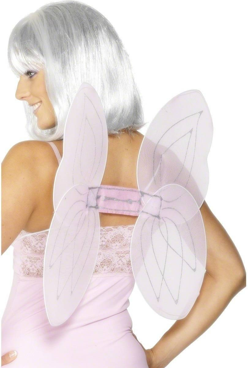 Angel Glitter Wings - Fancy Dress Ladies - Pink