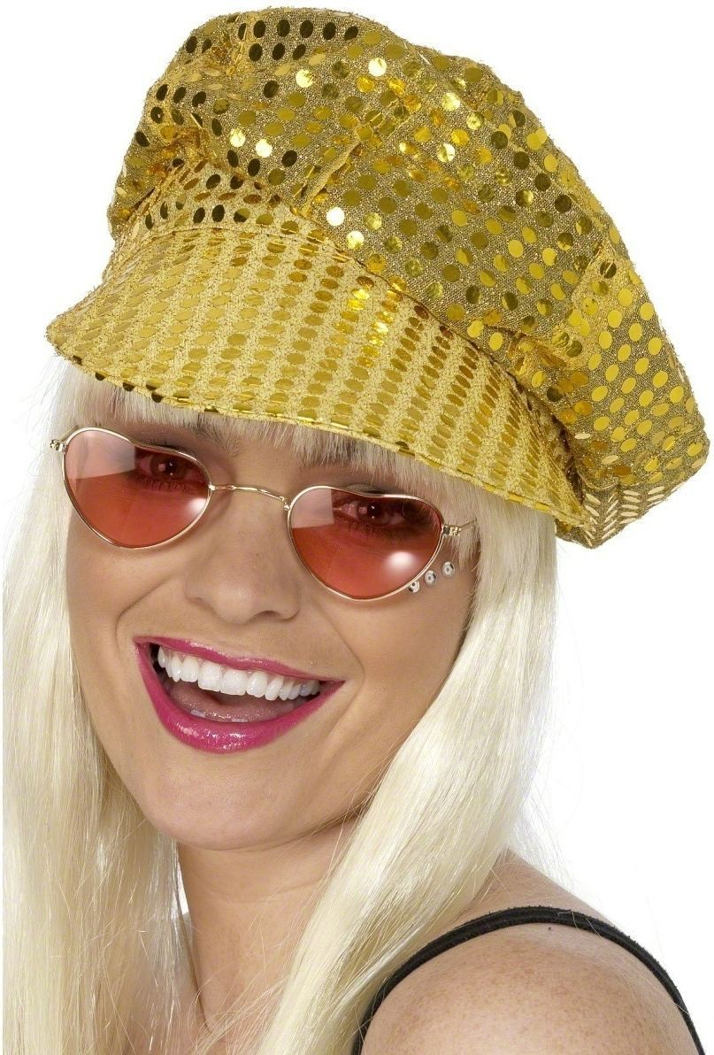 Disco Sequin Hat - Fancy Dress Ladies (1970S)