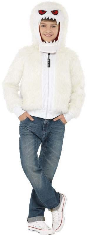 Boys White Abominable Monster (Fancy Dress Costume)