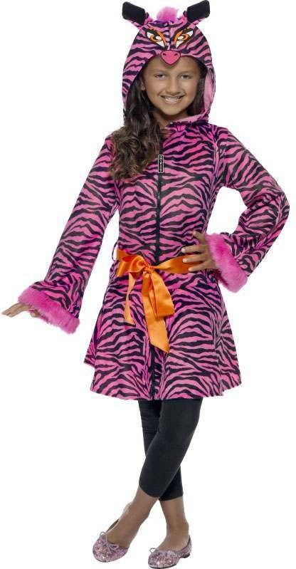 Girls Animal Print Zebra Sass  (Fancy Dress Costume)