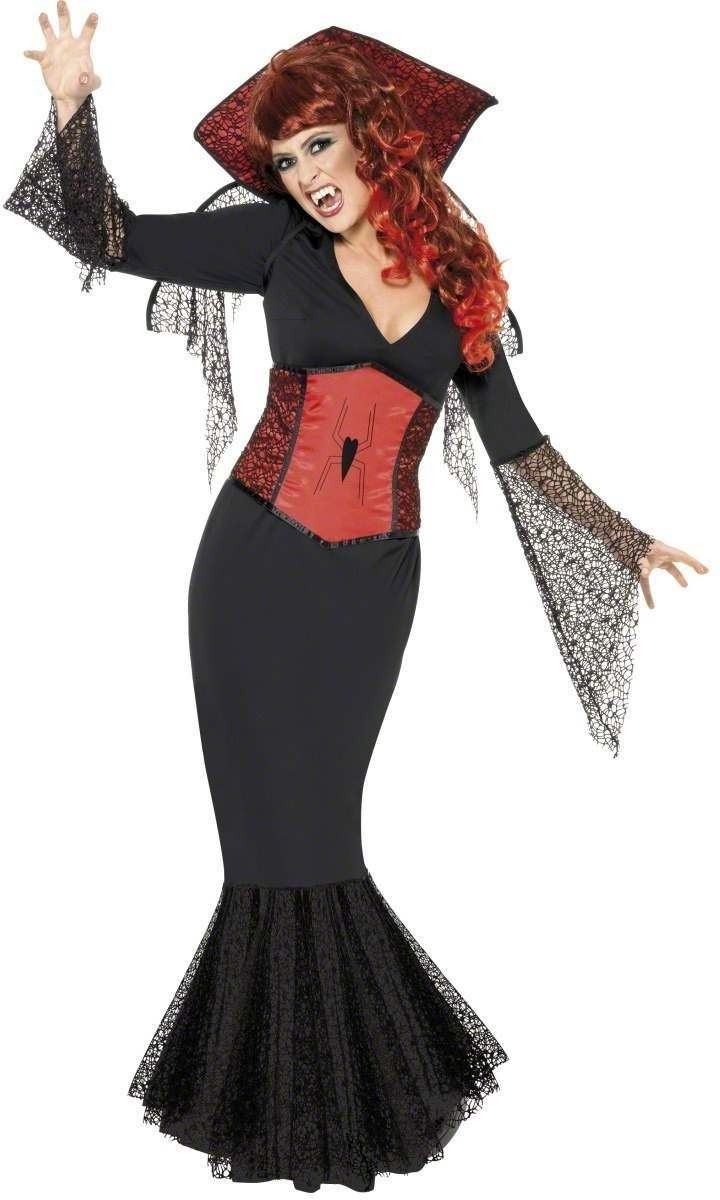 Miss Widow Vamp Fancy Dress Costume Ladies (Halloween)