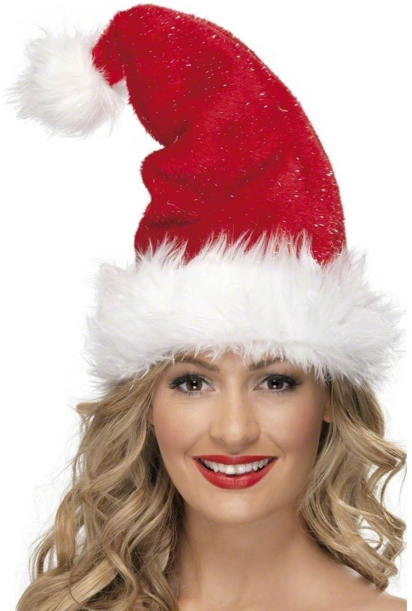 Santa Hat Deluxe - Fancy Dress (Christmas)
