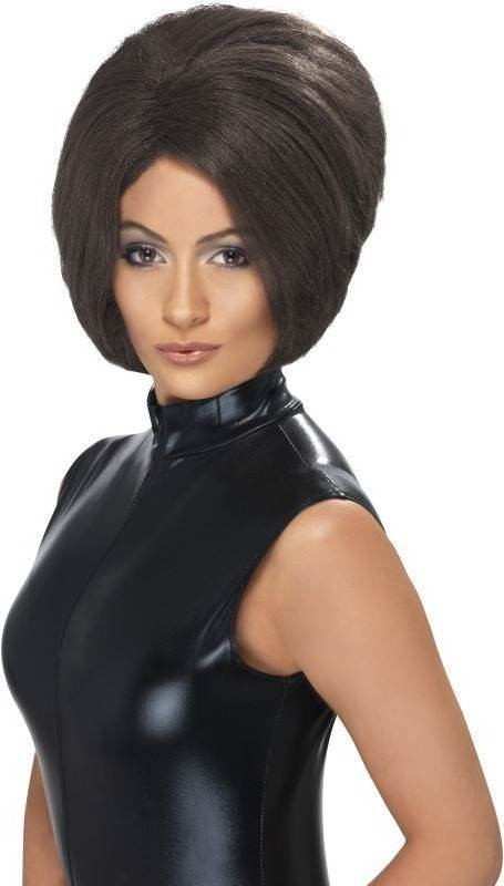 Posh Power Wig (1990S Fancy Dress Wigs) - Brown