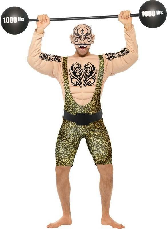 Tattooed Strong Man Fancy Dress Costume