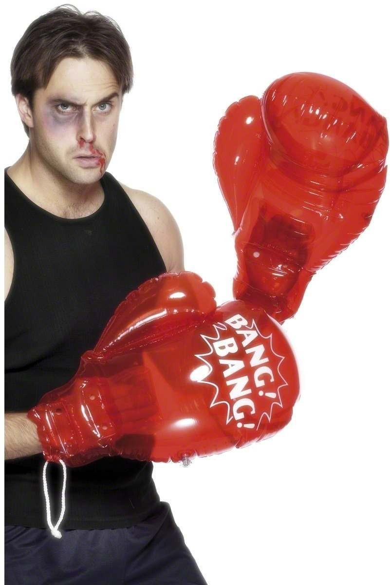 Inflatable Boxing Gloves - Fancy Dress Mens
