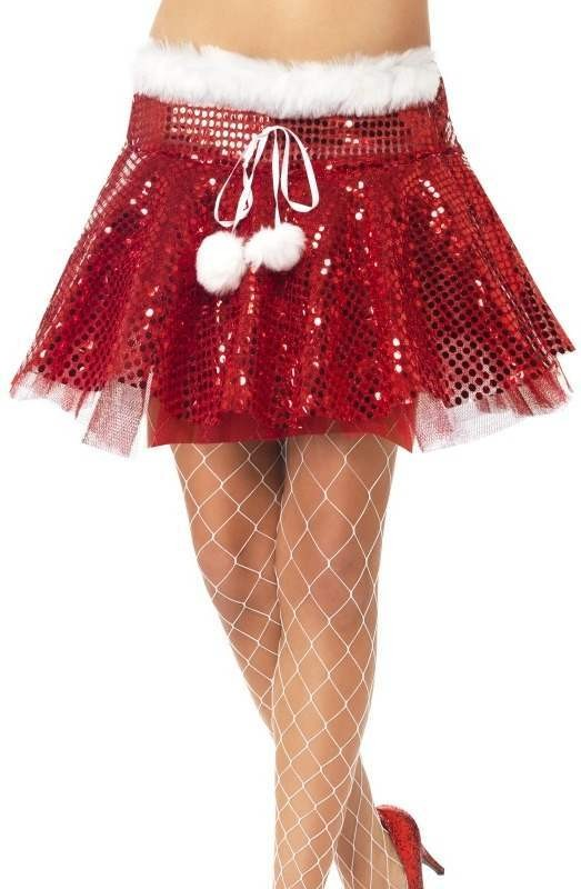 Santa Sequin Tutu (Christmas Fancy Dress)