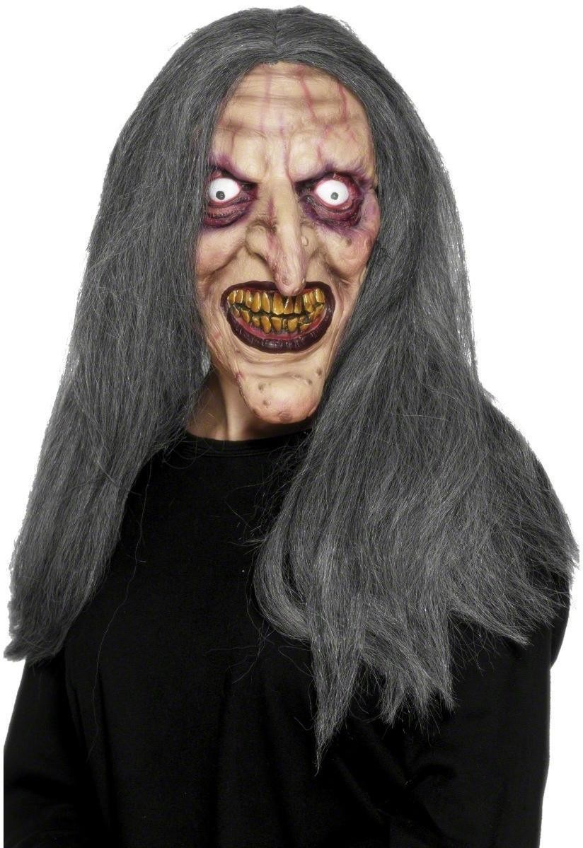 Aging Witch Mask - Fancy Dress Ladies (Halloween)