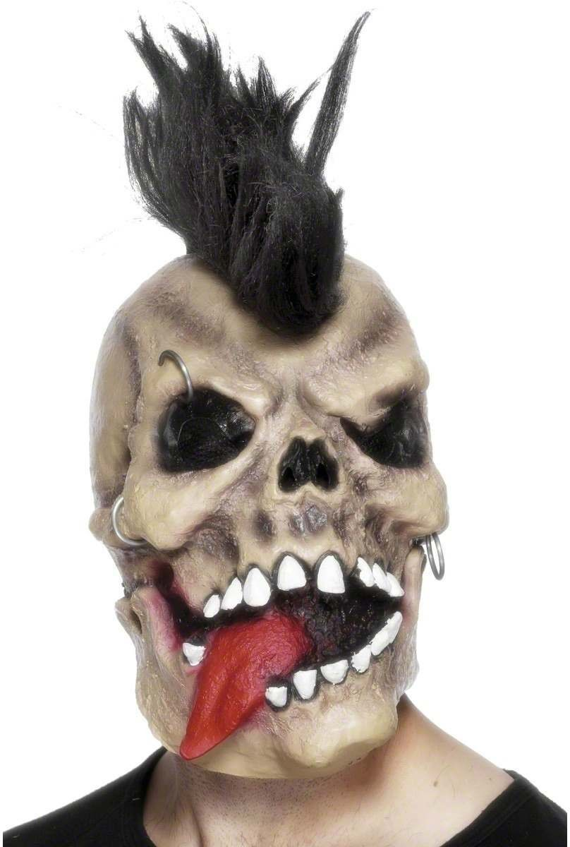 Punk Skull Rocker Mask - Fancy Dress Mens (Halloween)