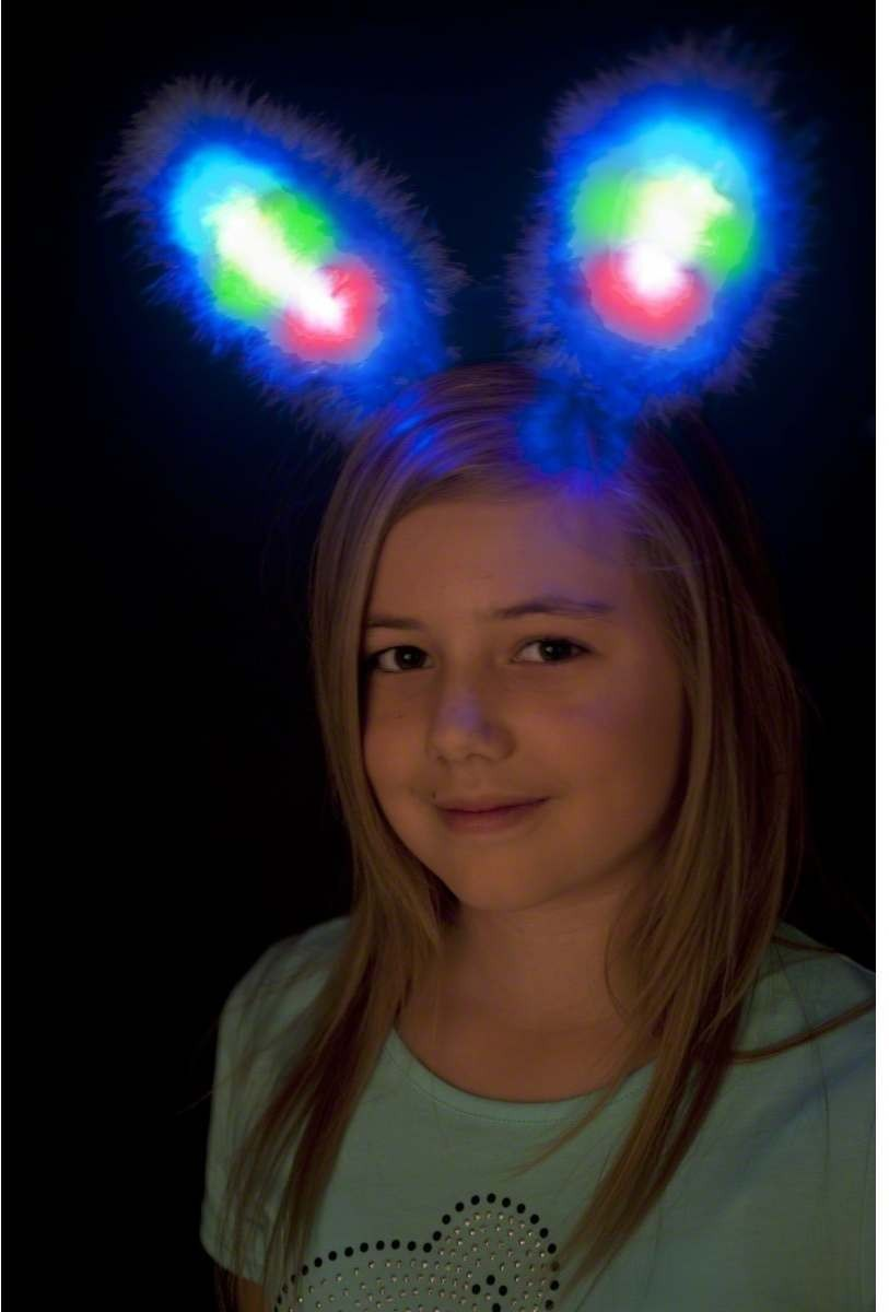 Light Up Bunny Ears - Fancy Dress Ladies
