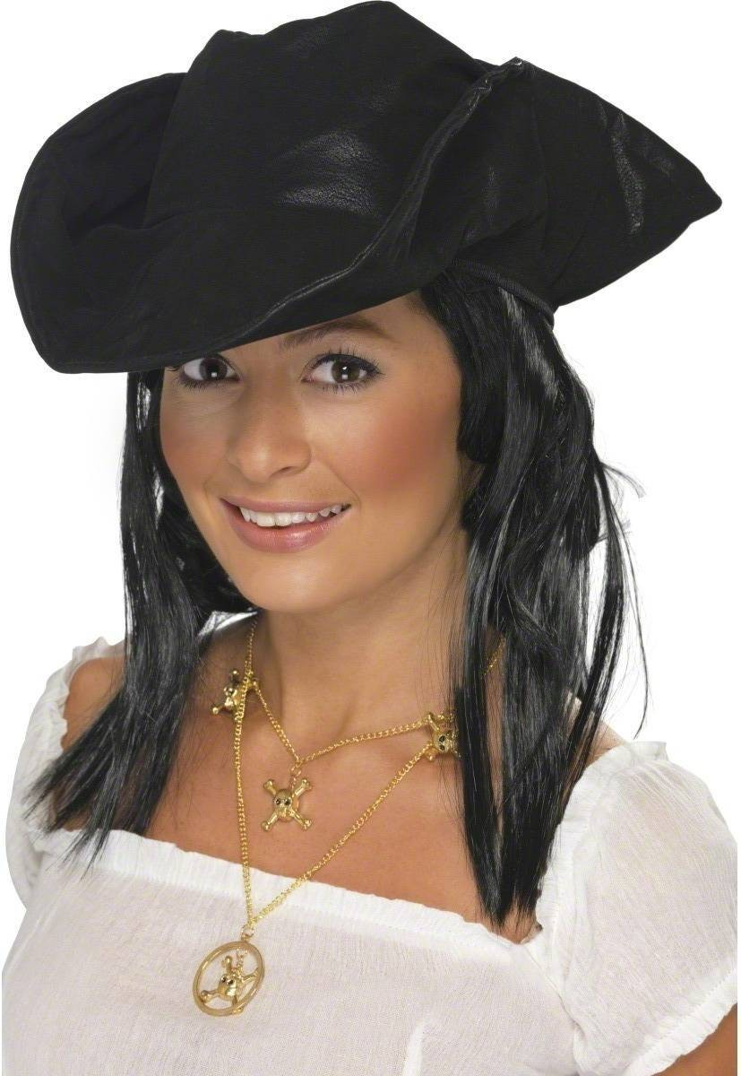 Pirate Hat - Fancy Dress Mens (Pirates)