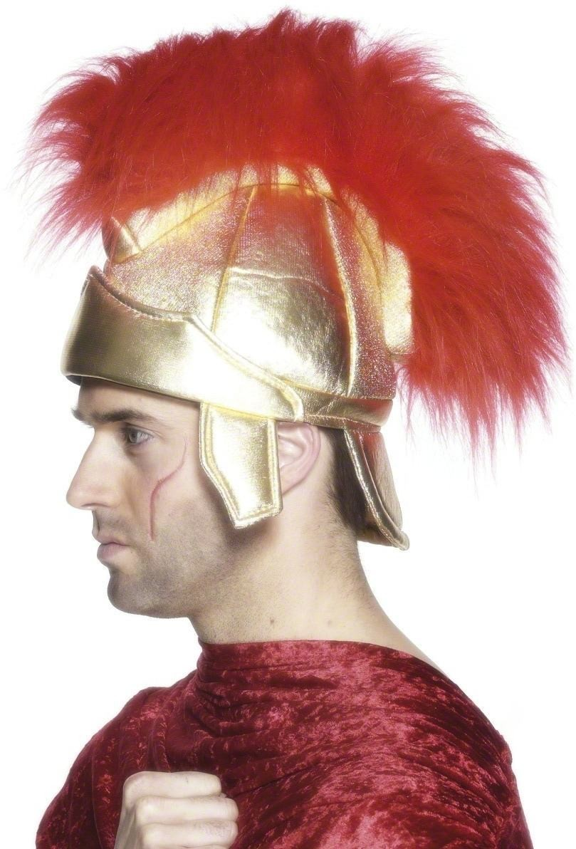 Roman Soldiers Helmet - Fancy Dress Mens(Roman)