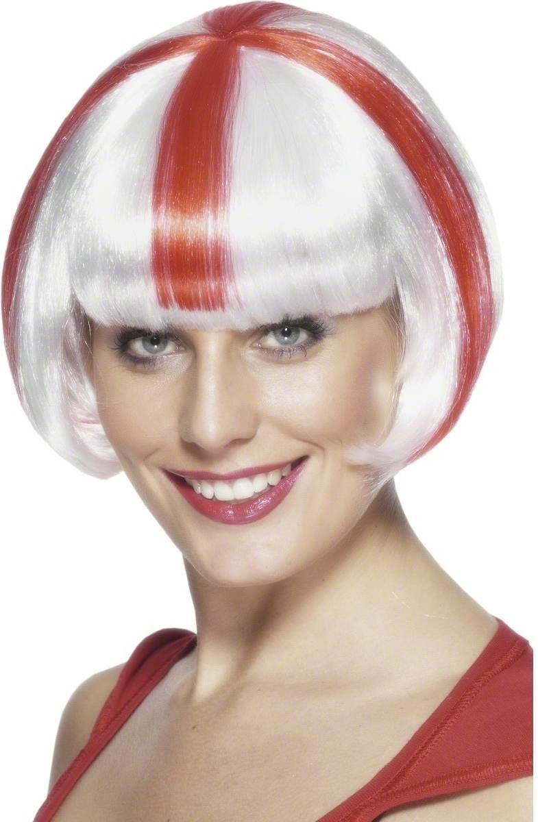 St George Babe Wig - Fancy Dress - Red/White