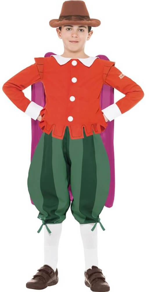 Boys Red & Green Horrible Histories Guy Fawkes Fancy Dress Costume