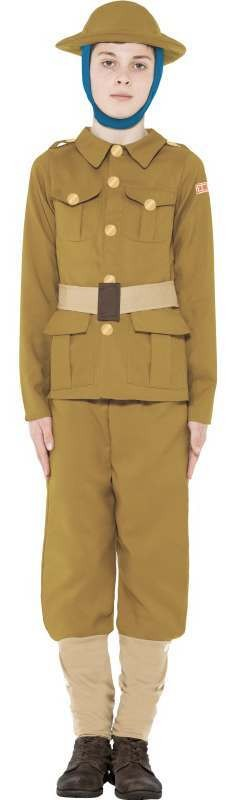 Boys Horrible Histories Ww1 Fancy Dress Costume