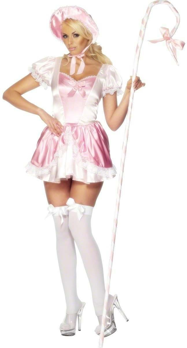 Fever Bo Peep Costume Pink & White Costume Size 16-18 L