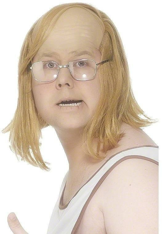 Little Britain Andy Wig - Fancy Dress Mens (Sexy) - Blond