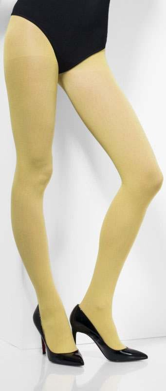 Ladies Yellow Opaque Tights