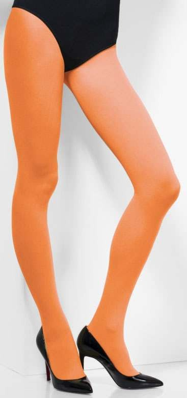 Ladies Orange Opaque Tights