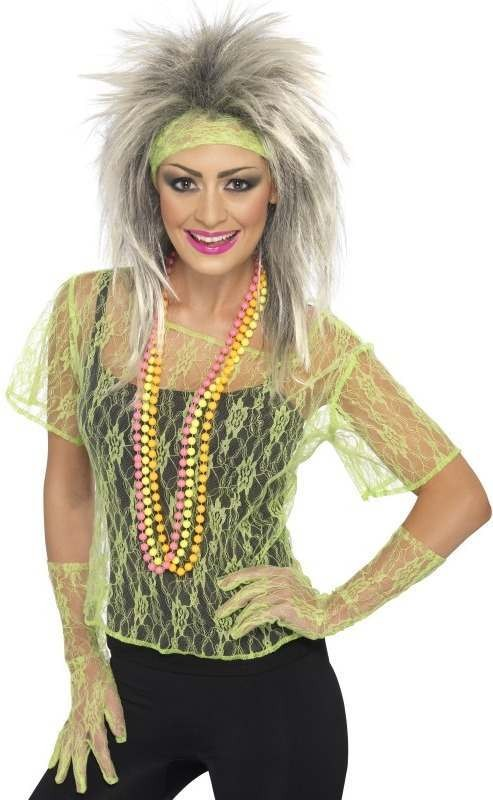 Lace Net Vest (1980S Fancy Dress)