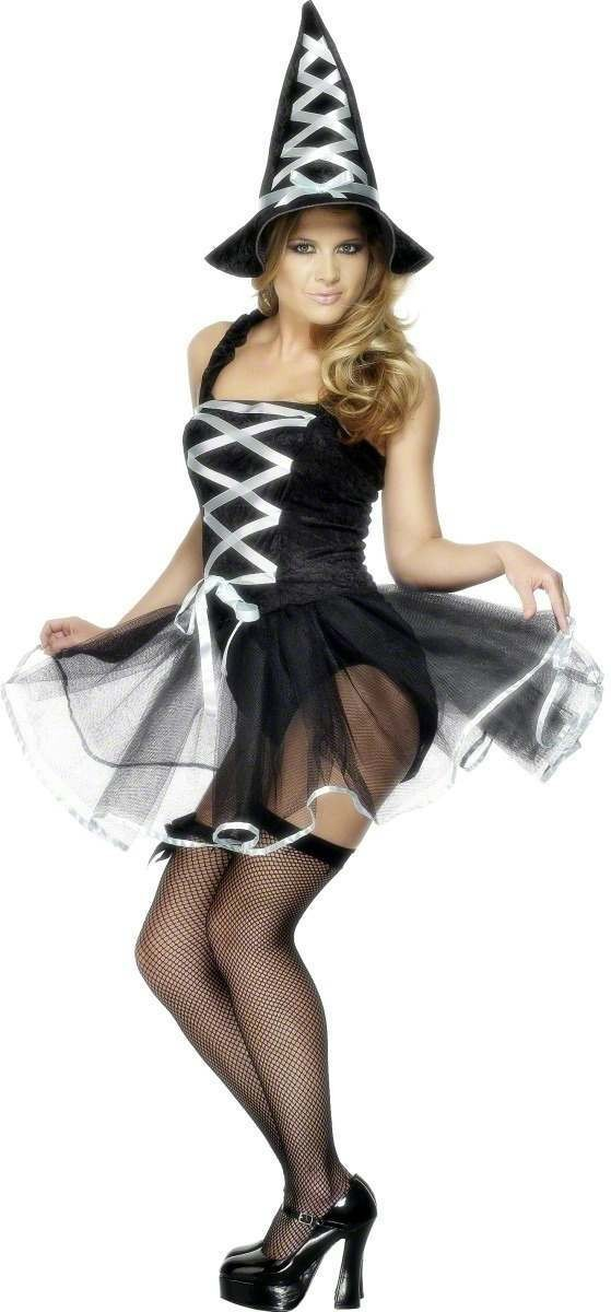 Fever Ballet Witch Fancy Dress Costume Ladies (Halloween)