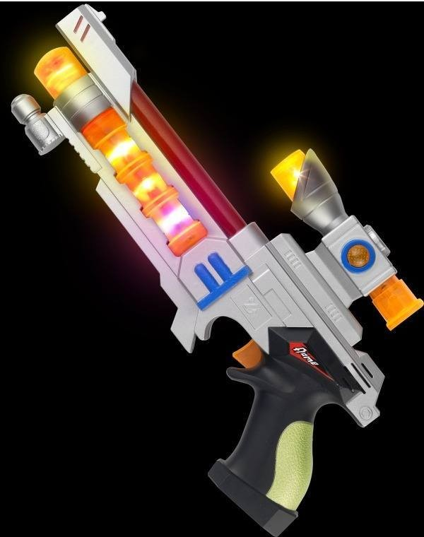 Space Gun, Light Up And Sound (Fancy Dress Guns)