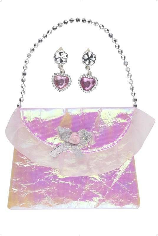 Princess'S Purse And Ear Ring Set (Fancy Dress)