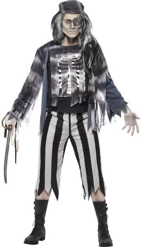 Ghostly Pirate Fancy Dress Costume
