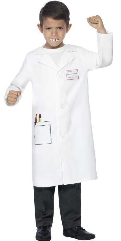 Boys White Dentist Kit Fancy Dress Costume