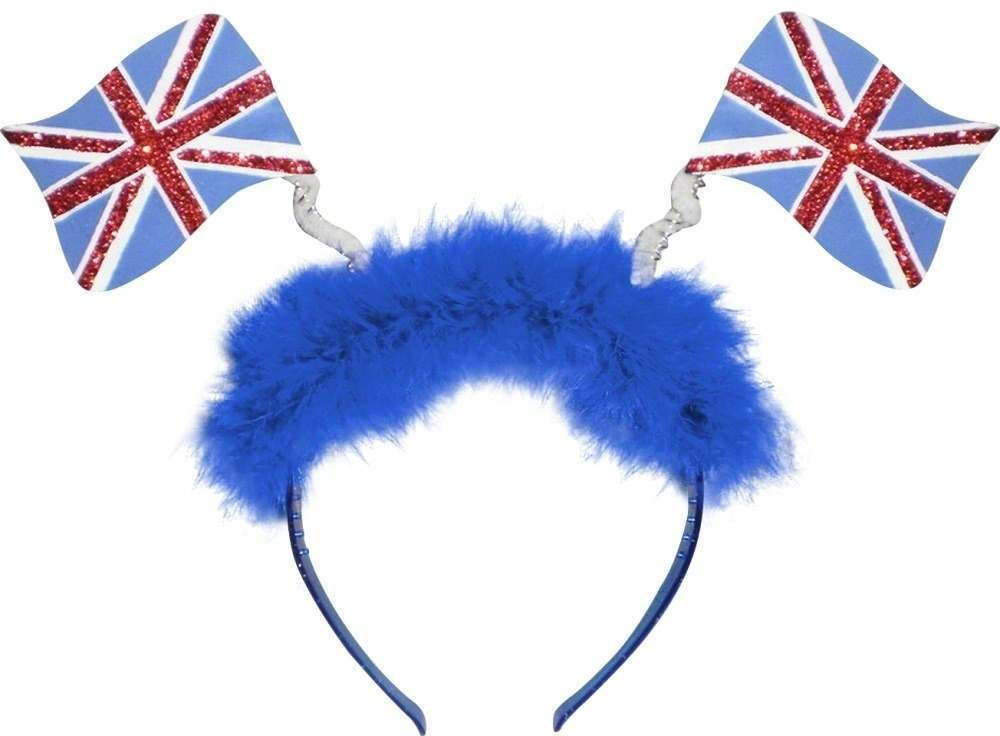 Union Jack Flag Head Boppers Fancy Dress Ladies