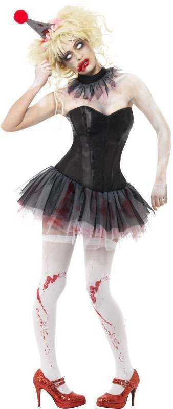 Ladies Zombie Clown Instant Kit (Fancy Dress Accessory)