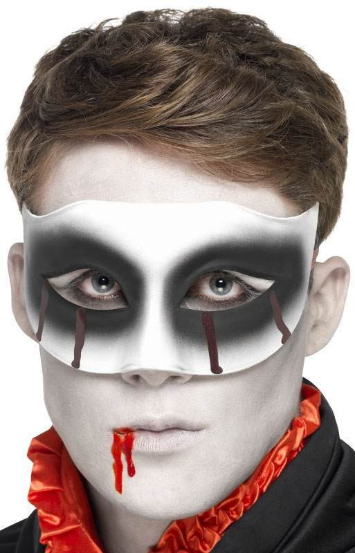 Unisex Zombie Masquerade Eyemask, With Blood Drip (Fancy Dress Accessory)