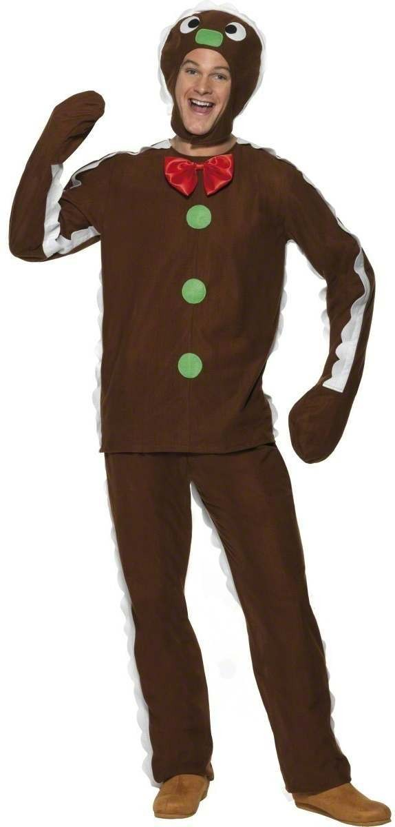 Gingerbread Man Fancy Dress Costume Mens (Christmas)