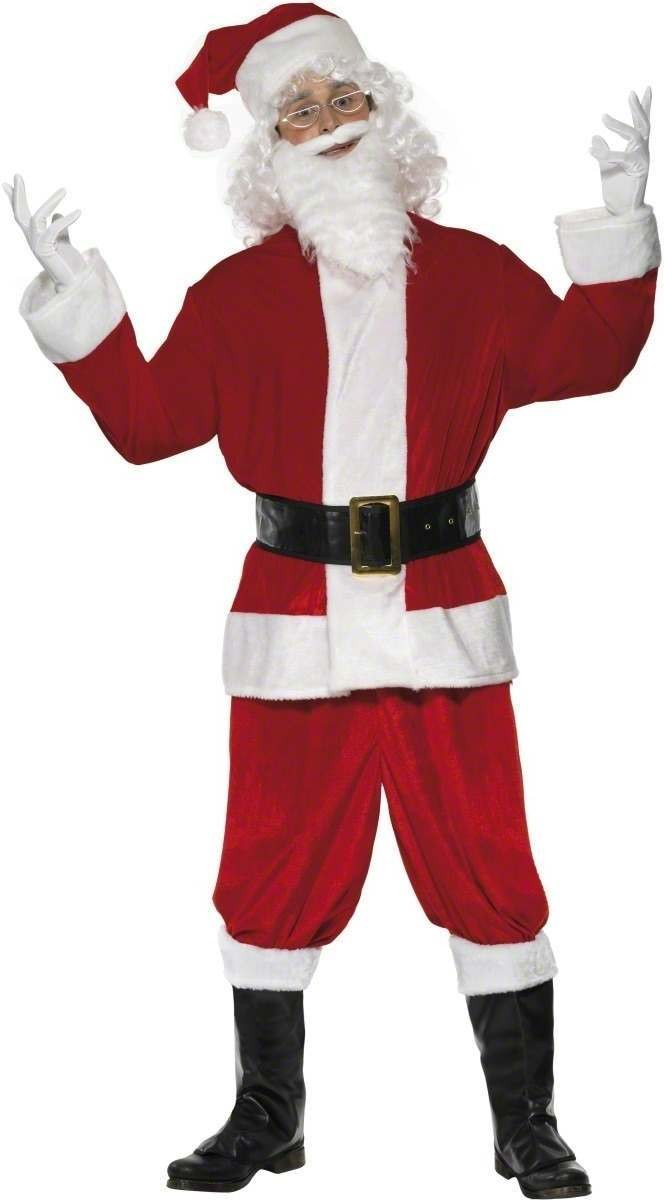 Plush Santa Fancy Dress Costume Mens (Christmas)