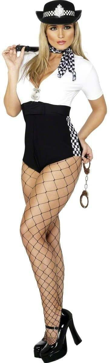 Fever Stop And Search Fancy Dress Costume Size 8-10 S (Sexy)