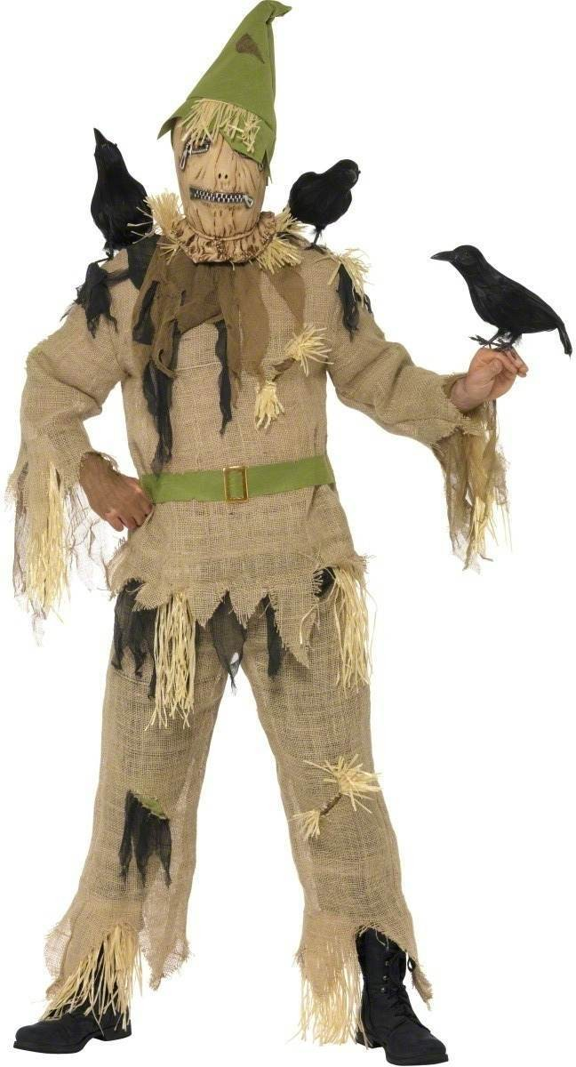 Scared Crow Fancy Dress Costume Mens (Halloween)