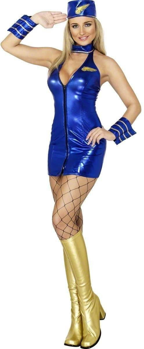 Fever Mile High Hostess Costume Size 16-18 L Ladies