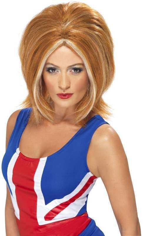 Girl Power Wig (Music Fancy Dress Wigs) - Ginger