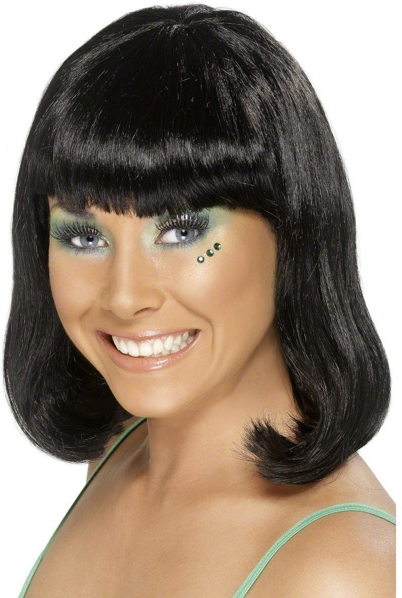 Party Wig Black - Fancy Dress Ladies - Black