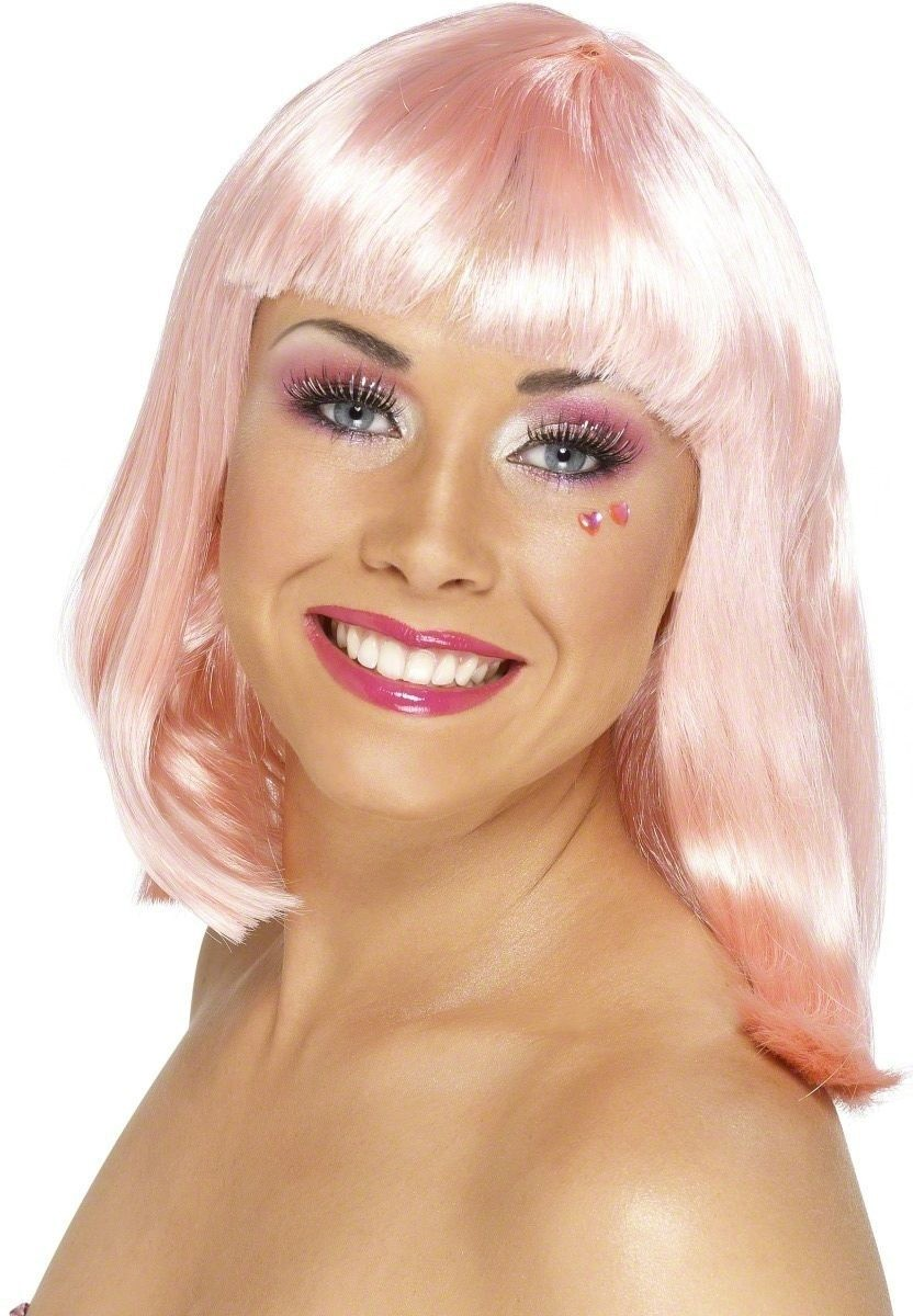 Party Wig Neon Pink - Fancy Dress Ladies