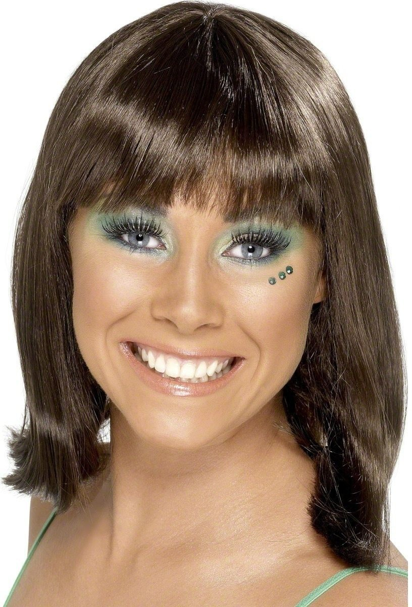 Party Wig Brown - Fancy Dress Ladies