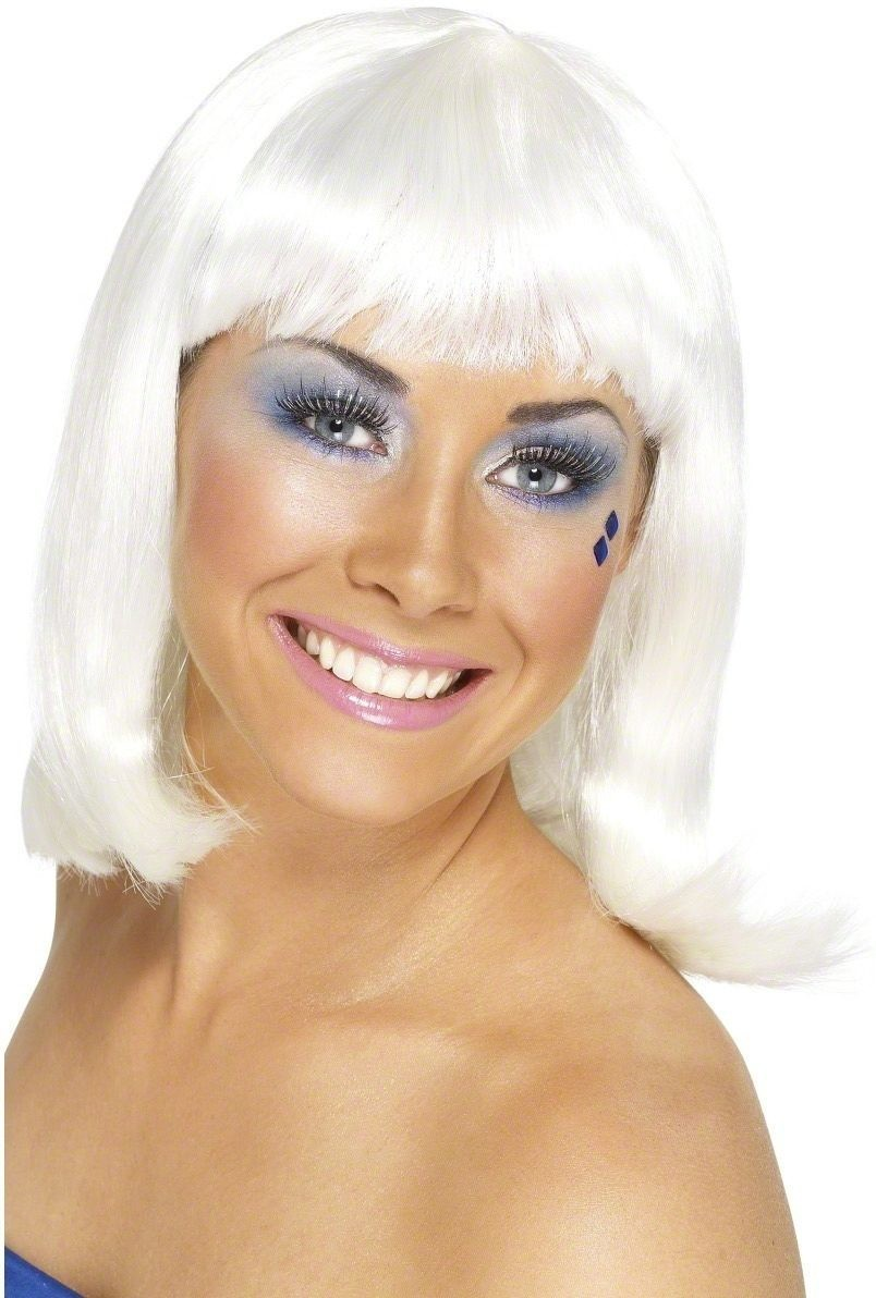 Party Wig White - Fancy Dress Ladies
