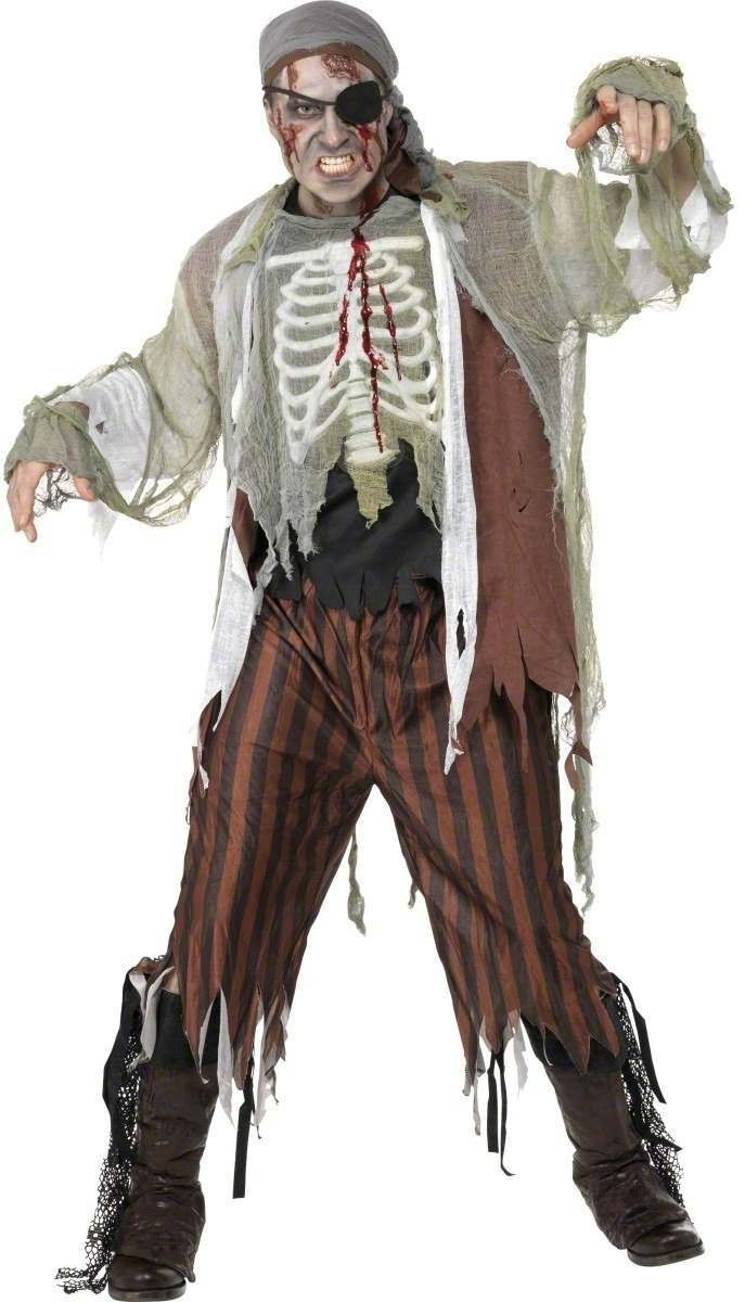 Zombie Shipmate Fancy Dress Costume Mens (Halloween)