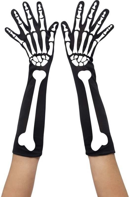 Skeleton Gloves (Halloween Gloves)