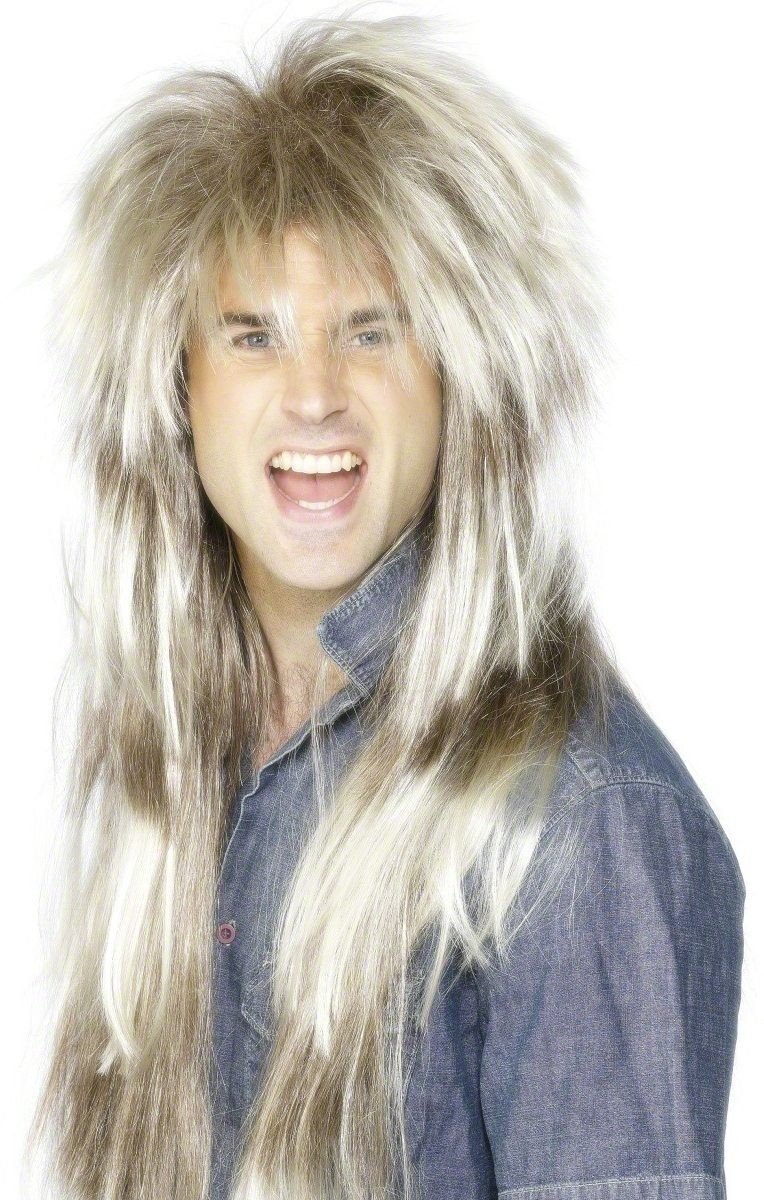 80S Throwback Wig - Fancy Dress Mens (1980S) - Blond