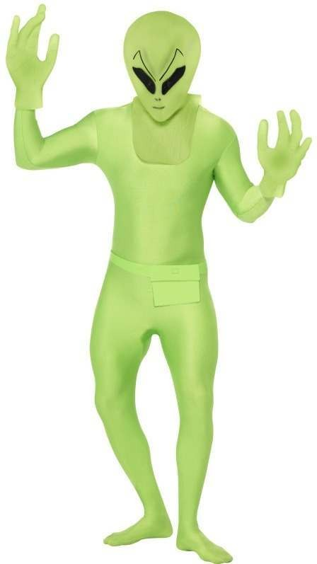 Second Skin Suit Alien Fancy Dress Costume