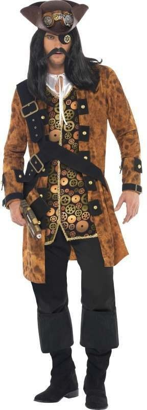 Steam Punk Pirate Fancy Dress Costume