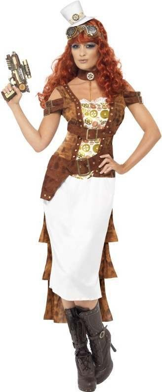 Steam Punk Wild West Agent , Female Fancy Dress Costume